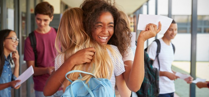 Young people find out how they fared in their GCSEs