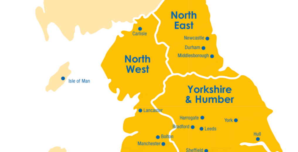 North West, North East, Yorkshire & Humber