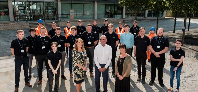 Engineering business takes on 28 apprentices from same school in two years